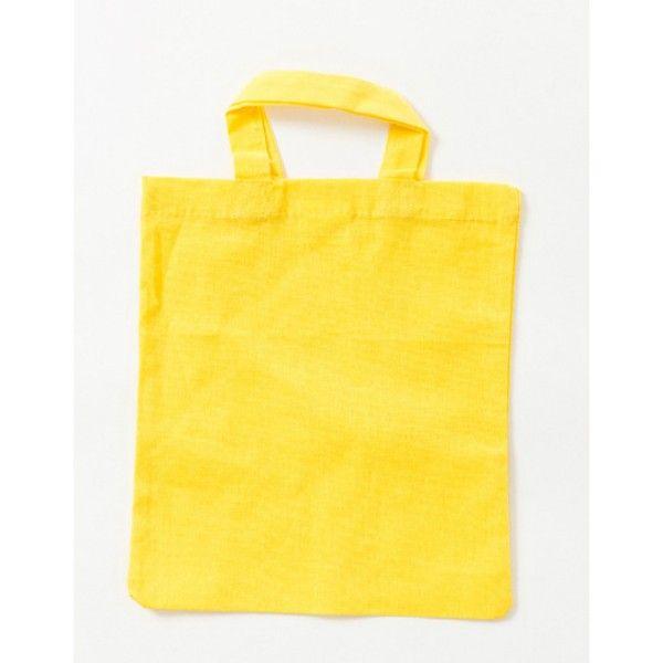 Plátěná taška malá 26x22cm žlutá ostatní