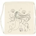 Plátěný batoh, pytlík se stahovacími šňůrkami Mořská panna