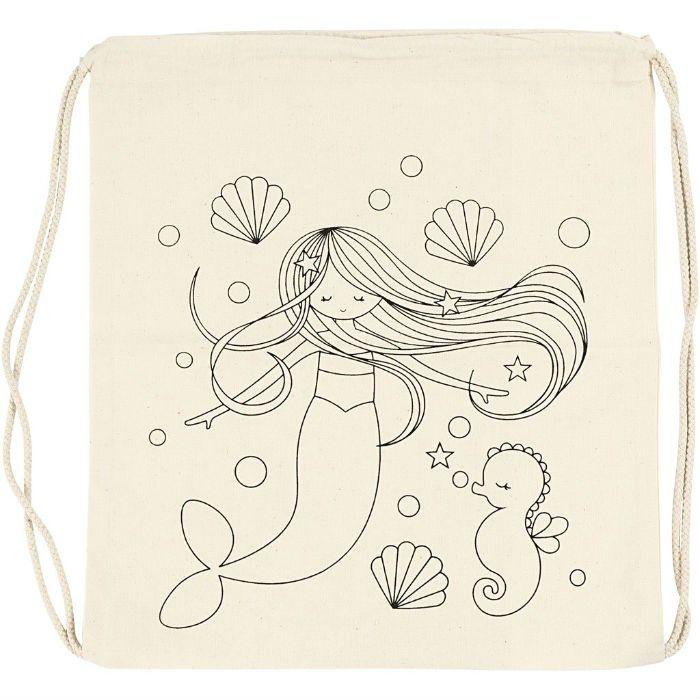 Plátěný batoh, pytlík se stahovacími šňůrkami Mořská panna ostatní