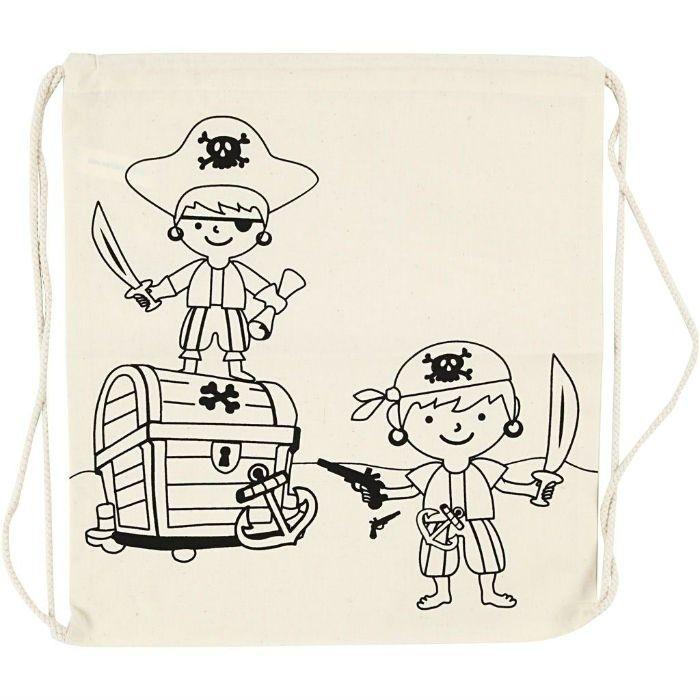 Plátěný batoh, pytlík se stahovacími šňůrkami Piráti ostatní