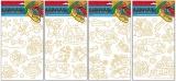 Předlohy na adhézní folii pro barvy na sklo - Vánoční 30x21cm