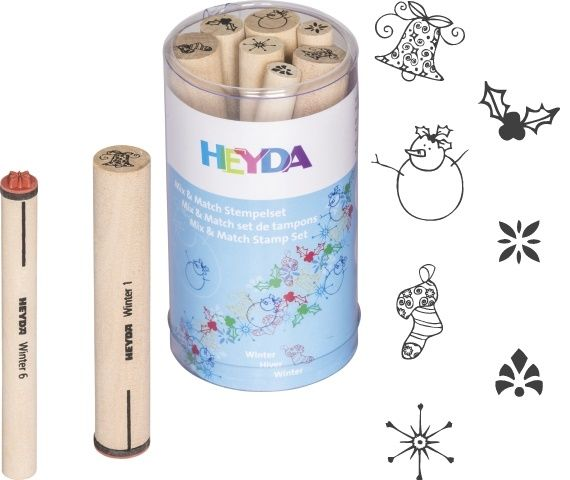 Razítka Zima 7 ks HEYDA