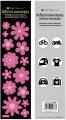 Reflexní samolepky květiny, růžové 7x28,5 cm