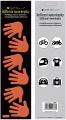 Reflexní samolepky ruce, oranžové 7x28,5 cm