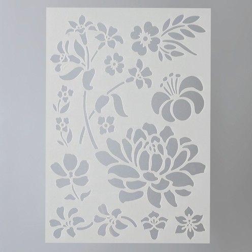 Šablona mix květin Efco