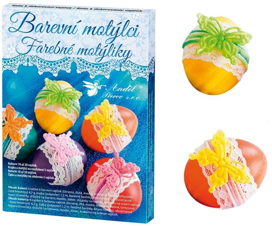 Sada k dekorování vajíček - barevní motýlci Andel