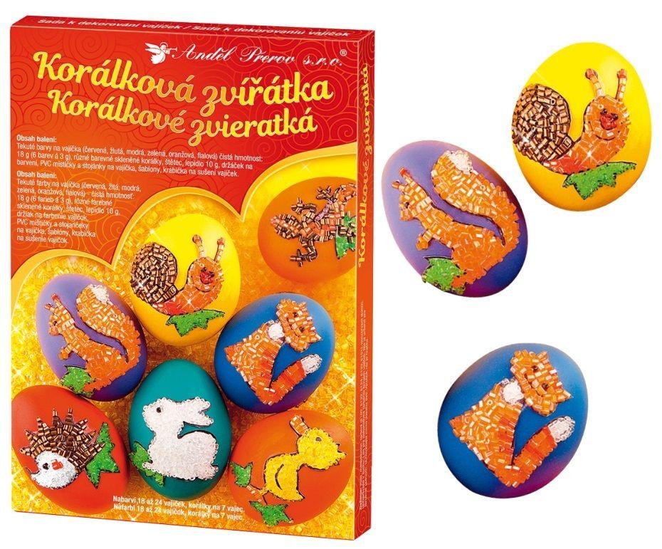 Sada k dekorování vajíček - korálková zvířátka Andel