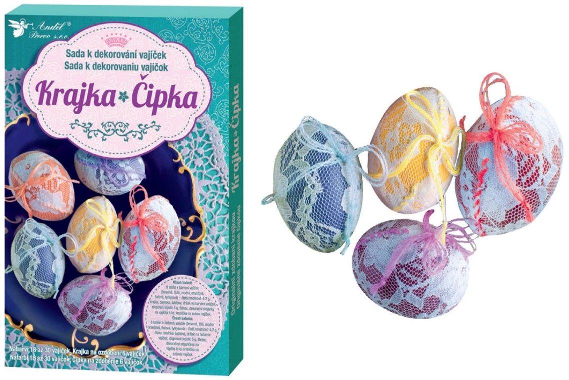 Sada k dekorování vajíček - krajka
