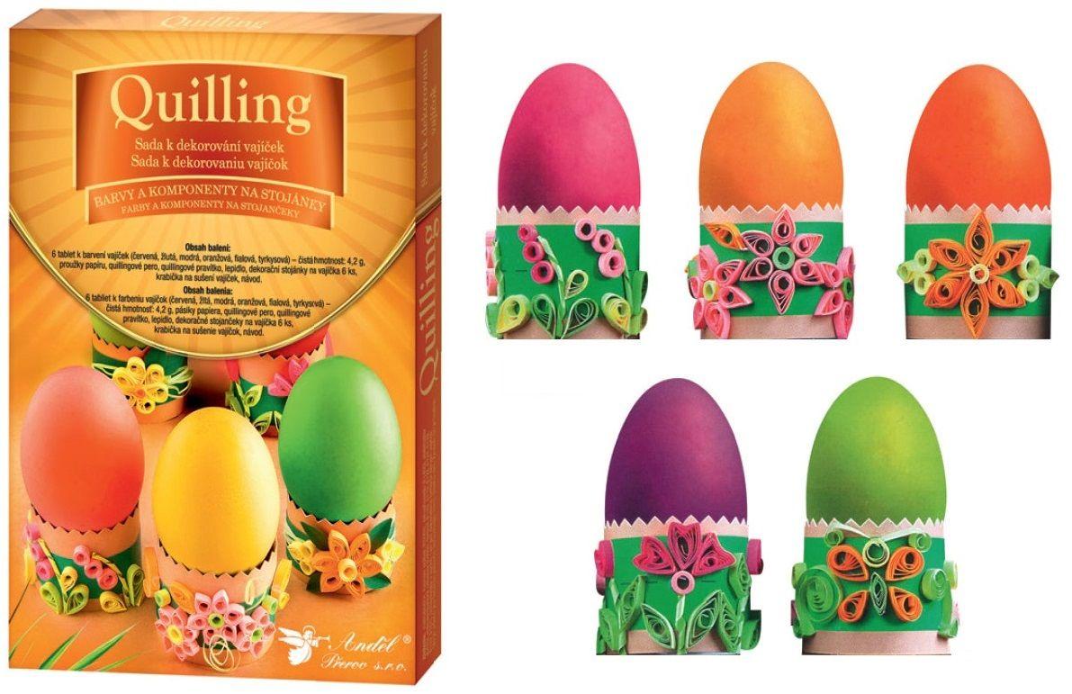 Sada k dekorování vajíček - quilling