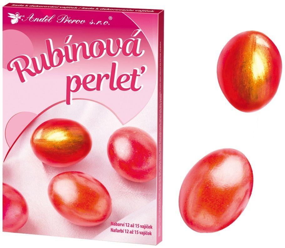 Sada k dekorování vajíček - rubínová perleť Andel