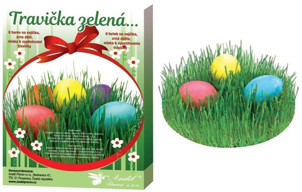 Sada k dekorování vajíček - travička zelená