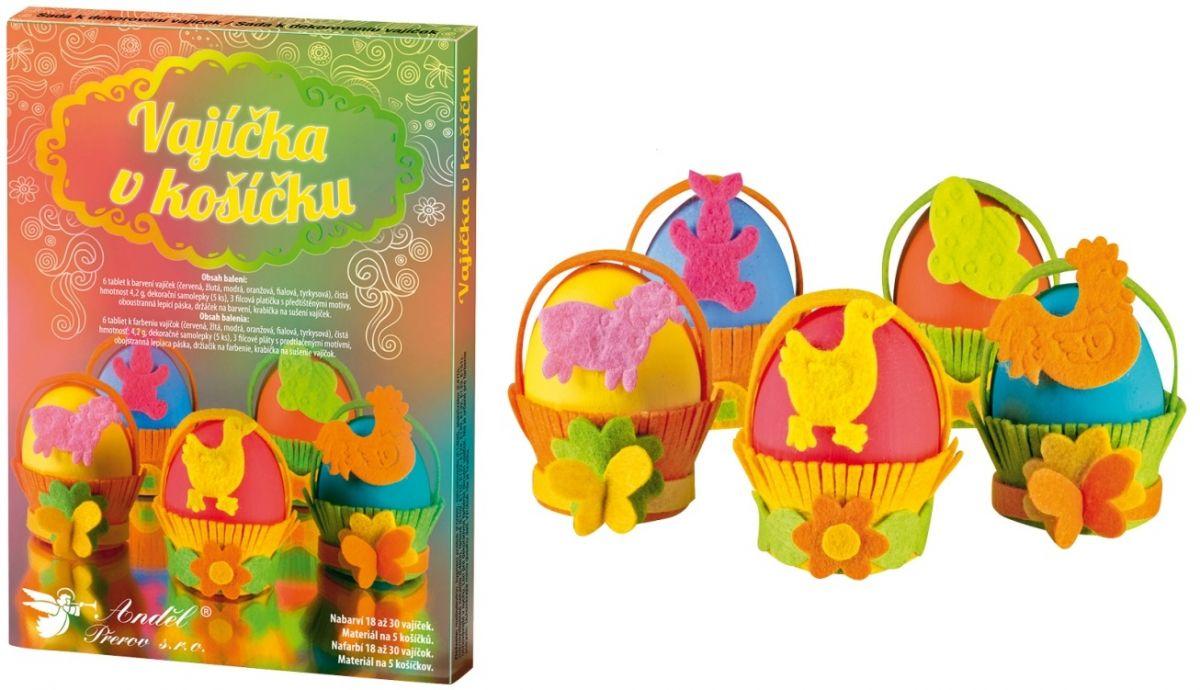 Sada k dekorování vajíček - vajíčka v košíčku Andel
