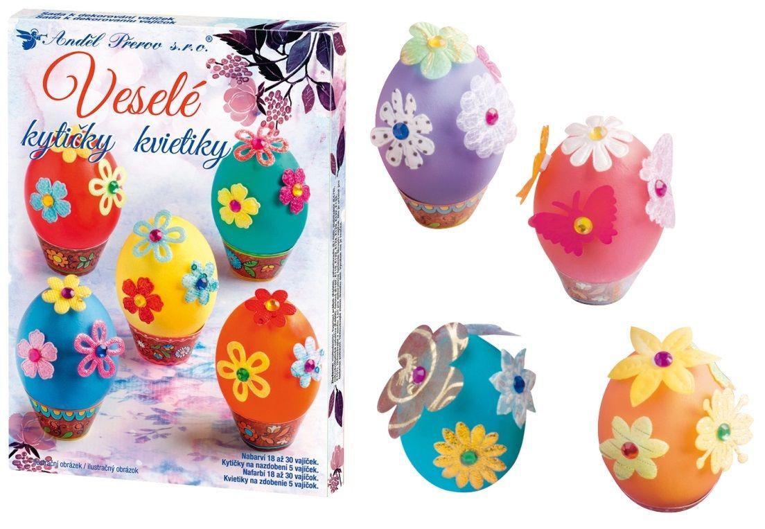 Sada k dekorování vajíček- veselé kytičky