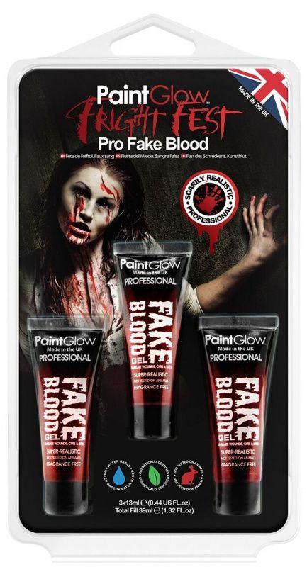 Barvy na obličej sada falešné krve - 3 x 13 ml PaintGlow