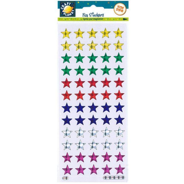 Samolepky 10x23cm - Holografické hvězdy CRAFT PLANET