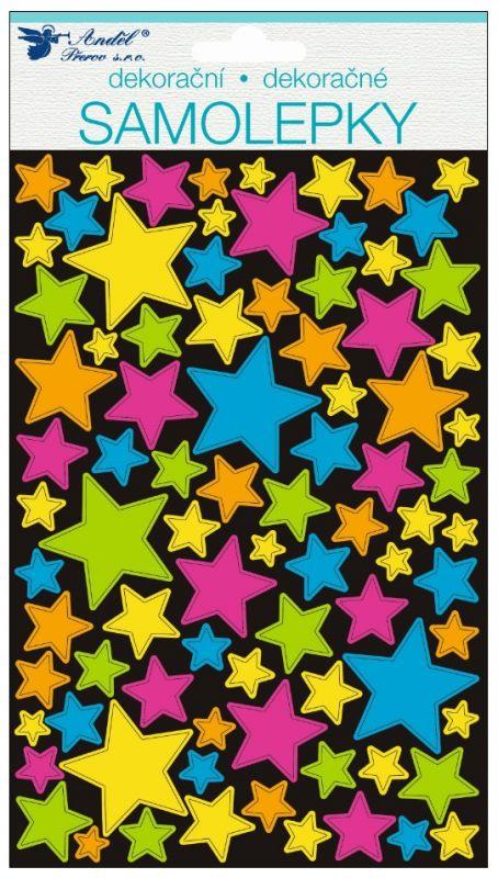 Samolepky hologramové hvězdičky 21 x 14 cm Andel