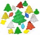 Samolepky z pěnovky - Vánoce třpytivé 54 ks SMTCreatoys