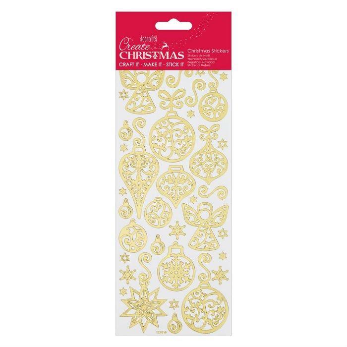 Samolepky zlaté 10x23cm - Vánoční ozdoby DOCRAFTS