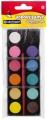 Vodové barvy Centropen 12 ks 22mm + štětec