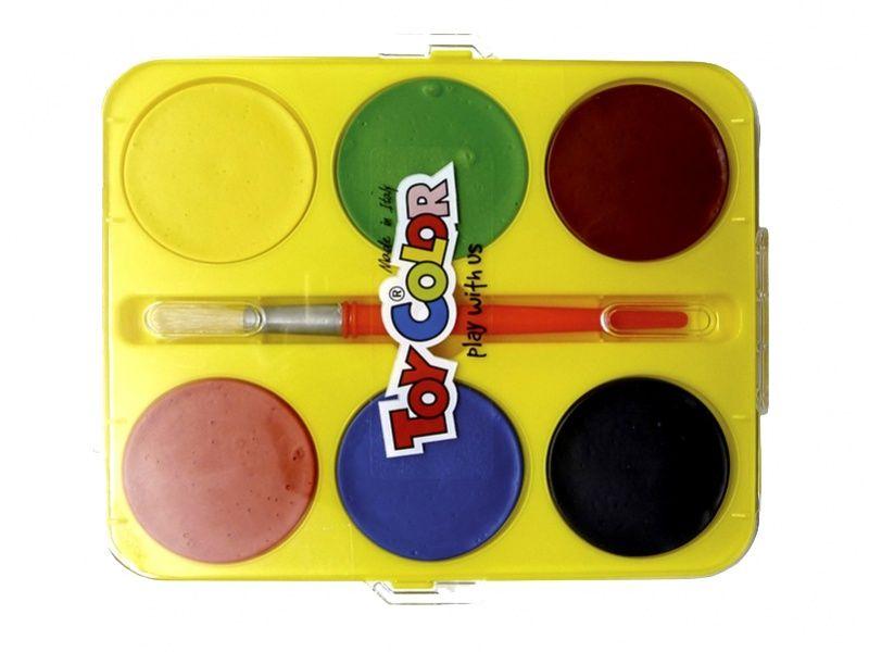 Vodové barvy maxi 57mm, 6 barev ToyColor