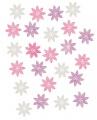 Výseky dřevěné - květy 2 cm, 24 ks