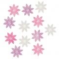 Výseky dřevěné - květy 4 cm, 12 ks