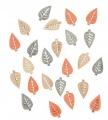 Výseky dřevěné - listy 2 cm, 3 barvy - 24 ks
