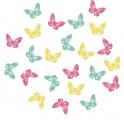 Výseky dřevěné - motýli 2 cm, 24 ks