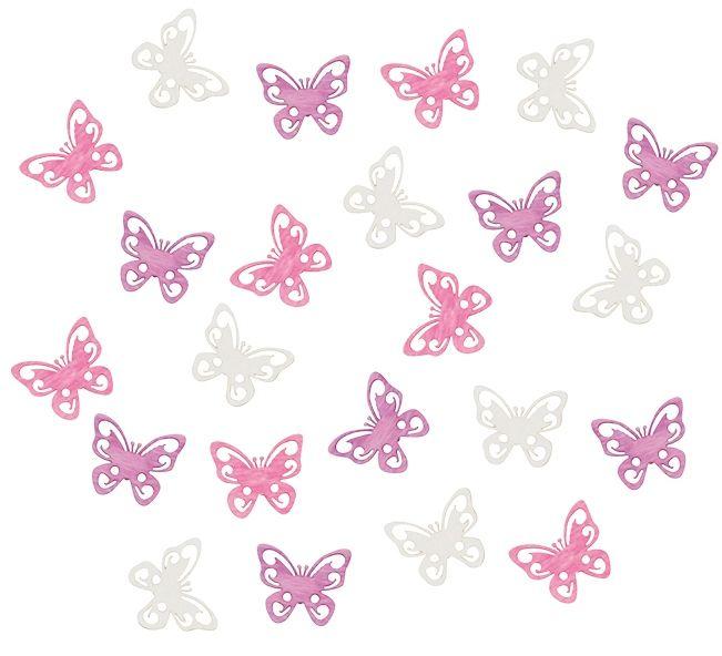 Výseky dřevěné - motýli 2 cm, 24 ks ostatní