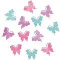 Výseky dřevěné - motýli 4 cm, 12 ks