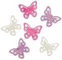 Výseky dřevěné - motýli 6 cm, 6 ks