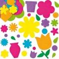 Filcové samolepky Květinová zahrada 200ks