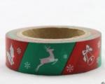Washi Tape - dekorační lepicí páska - 10mx15mm - SOB, ZVONEC, HŮL