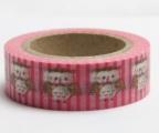 Washi Tape - dekorační lepicí páska - 10mx15mm - SOVY