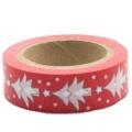 Washi Tape - dekorační lepicí páska - 10mx15mm - STROMY BÍLÉ