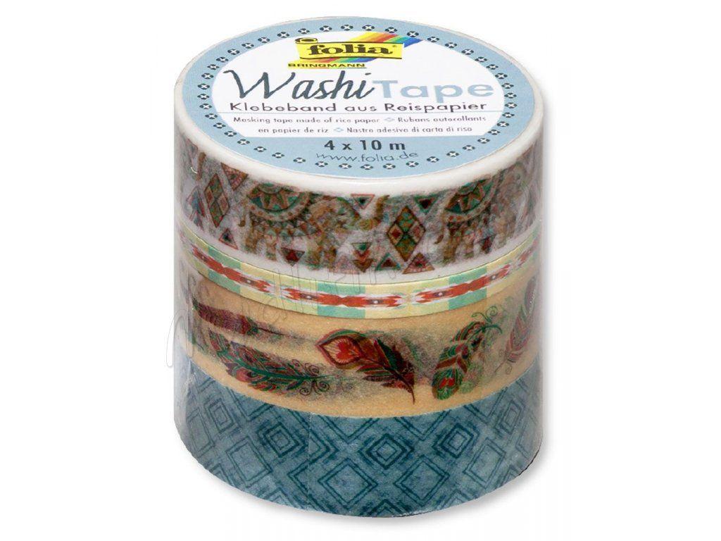 Washi Tape - dekorační lepicí páska - sada BOHO