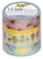 Washi Tape - sada TROPICAL 4x10m