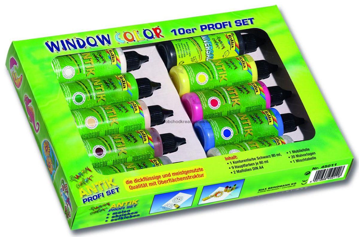 Window Color - profi set - barvy na sklo - 10 ks Folia