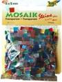 Mozaika průhledná 10x10mm mix barev - 190 dílků