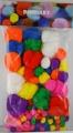 Bambulky - akrylové, 100 ks, mix barev a velikostí