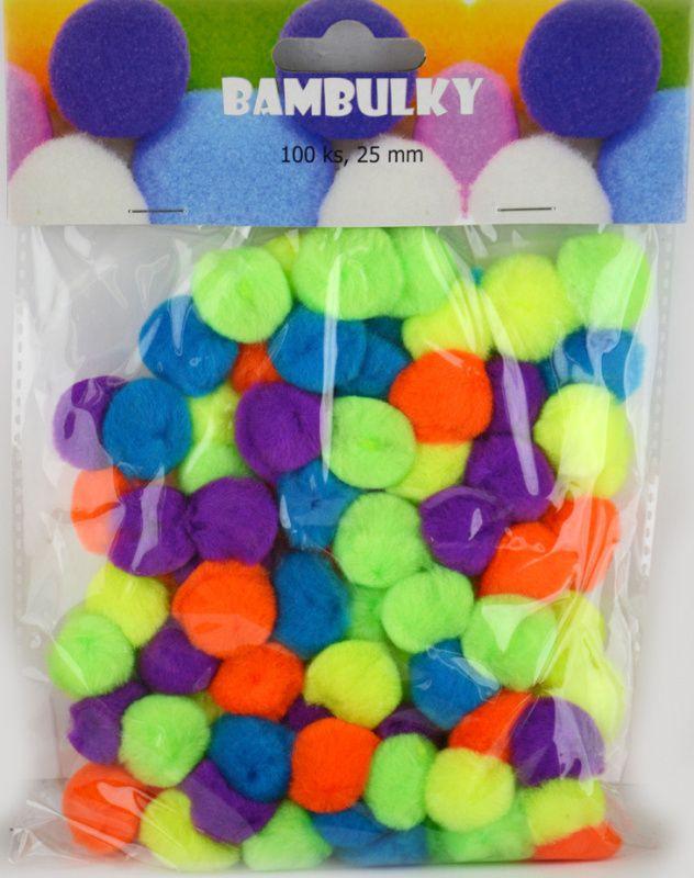 Bambulky - základní barvy, 100 ks, cca 25 mm nové barvy SMTCreatoys