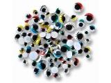 Barevné oči s řasami 140 ks mix barev a velikostí