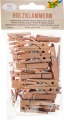"""Dřevěné kolíčky - """"PŘÍRODNÍ""""- 48 ks, různé velikosti"""
