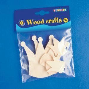 Dřevěné korunky 10ks- různé velikosti PLAYBOX