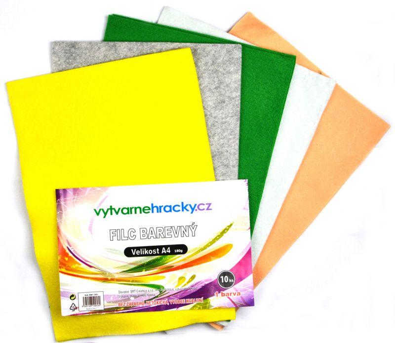 Filc A4- sada 10listů mix barev, 180g velikonoční SMTCreatoys