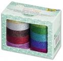Glitter Tape - 10ks dekorační lepicí páska se třpytkami - 5x15mm