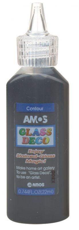 Kontura k barvám na sklo Amos 22ml