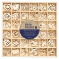 Mix dřevěných dekorací 180ks