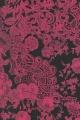 Papír Décopatch - Černý s růžovými květinami