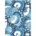 Papír Décopatch - Modré peří a ornamenty